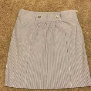 Blue and white Brooks Brothers skirt